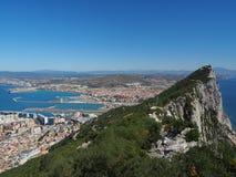 Vista da parte superior da rocha de Gibraltar Fotos de Stock