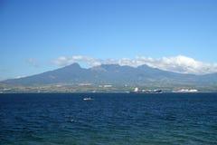 Vista da península de Bataan, ilha de Luzon, Filipinas foto de stock