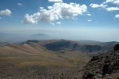 vista da picareta de Aragats Foto de Stock Royalty Free