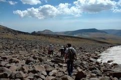 vista da picareta de Aragats Fotografia de Stock Royalty Free