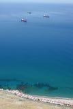Vista da ponta da rocha de Gibraltar Fotografia de Stock