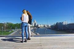Vista da ponte crescente Fotografia de Stock