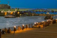 Vista da ponte crimeana Foto de Stock