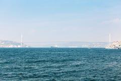 Vista da ponte de Bosphorus Fotografia de Stock