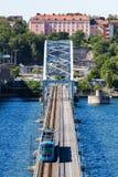 Vista da ponte de Lidingo de Éstocolmo Fotos de Stock Royalty Free