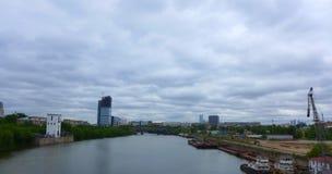 Vista da ponte de Shelepixinsky Imagem de Stock Royalty Free