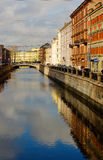 Vista da ponte de St Petersburg foto de stock