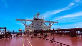 Vista da ponte de um petroleiro de óleo Fotografia de Stock
