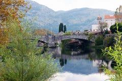 Vista da ponte em Trebinje Fotos de Stock Royalty Free