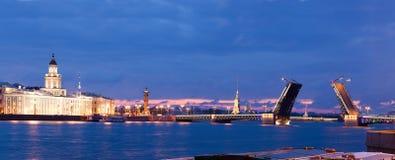 Vista da ponte tirada na cidade de St Petersburg imagem de stock royalty free