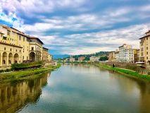 Vista da Ponte Vecchio fotografia stock libera da diritti