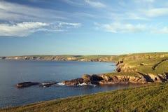 Vista da porta Isaac, Cornovaglia del nord. Fotografie Stock Libere da Diritti
