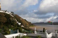 Vista da Portmeirion nel Galles Fotografie Stock