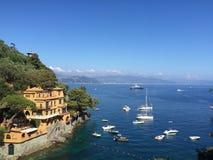 Vista da Portofino Immagini Stock Libere da Diritti