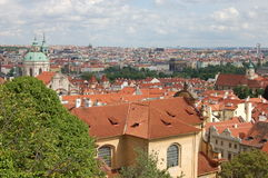 Vista da Praga imagens de stock