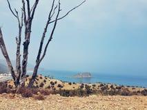 Vista da praia da íris de cala no hoceima do EL, Marrocos Fotografia de Stock