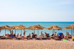 Vista da praia Foto de Stock Royalty Free