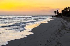 Vista da praia Fotos de Stock