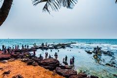 Vista da praia de Anjuna Imagem de Stock