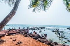 Vista da praia de Anjuna Imagens de Stock Royalty Free