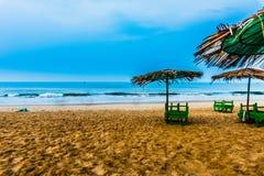 Vista da praia de Calangute Fotos de Stock Royalty Free