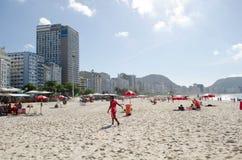 Vista da praia de Copacabana Fotos de Stock