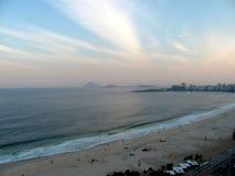 Vista da praia de Copacabana em Rio de janeiro, Brasil Foto de Stock