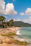 vista da praia de Lamai Imagem de Stock