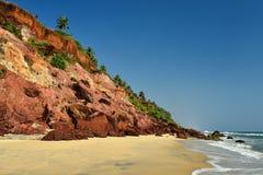 Vista da praia de Varkala Fotos de Stock