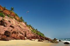 Vista da praia de Varkala Imagens de Stock Royalty Free