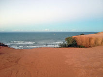 Vista da praia famosa do Pipa - para a Web imagens de stock