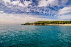 Vista da praia Fenals Imagem de Stock Royalty Free