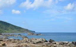 Vista da praia sul de Taiwan Foto de Stock Royalty Free