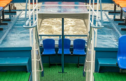 Vista da proa do navio Foto de Stock