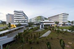 Vista da quarta universidade autônoma, terreno de SUTD em Singapura Imagens de Stock Royalty Free