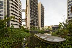 Vista da quarta universidade autônoma, terreno de SUTD em Singapura Foto de Stock Royalty Free
