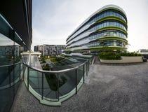 Vista da quarta universidade autônoma, terreno de SUTD em Singapura Imagens de Stock