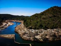 Vista da represa de Algar foto de stock