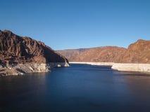 Vista da represa de Hoover Fotografia de Stock