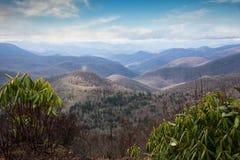 Vista da Ridge Parkway blu Fotografia Stock Libera da Diritti