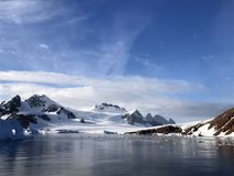 Vista da roccia rossa Ridge, Antartide Fotografie Stock Libere da Diritti