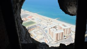 Vista da rocha de Gibraltar Fotografia de Stock