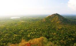 Vista da rocha de Sigiriya, Sri Lanka imagens de stock