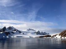 Vista da rocha vermelha Ridge, a Antártica fotos de stock royalty free