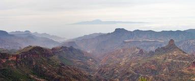 Vista da Roque Nublo Fotografia Stock Libera da Diritti