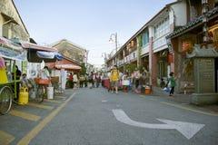 Vista da rua armênia, George Town, Penang, Malásia Foto de Stock Royalty Free