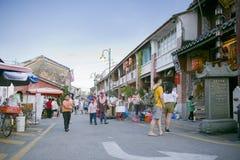 Vista da rua armênia, George Town, Penang, Malásia Imagens de Stock Royalty Free