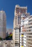 Vista da rua Calle de la Princesa no Madri, Espanha Fotografia de Stock Royalty Free