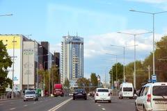Vista da rua de Novo-Sadovaya imagem de stock