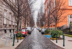 Vista da rua de Reviczky em Budapest, Hungria Foto de Stock Royalty Free